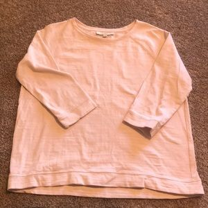 LOFT Blush 3/4 Sleeve Knit Top